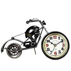 DOVANT Creative Bronze Gift Desk Clock Motorcross Shape Home Crafts
