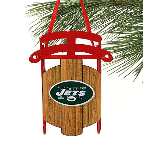 NY New York Jets Sled Ornament