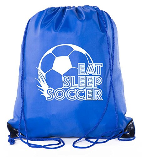 (Soccer Party Favors | Soccer Drawstring Backpacks for Birthday Parties, Team events, and much more! - 10PK Royal CA2500SOCCER S3)