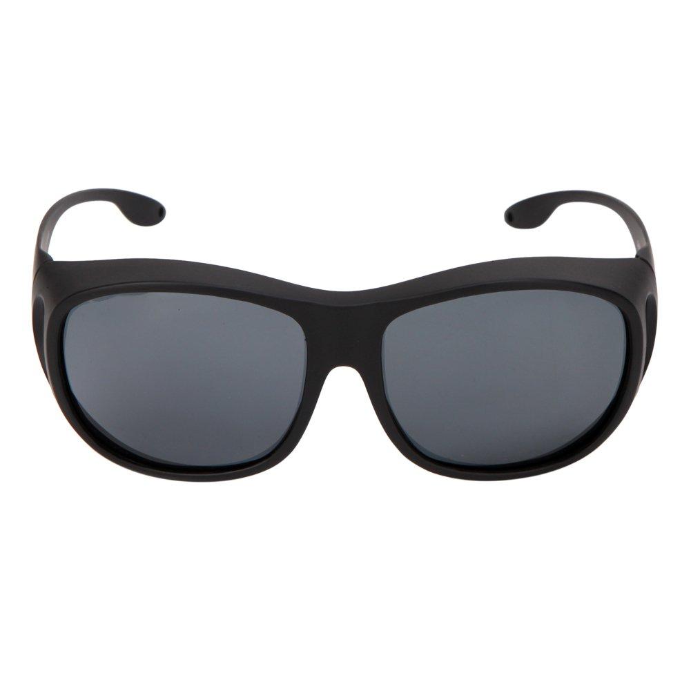 Solarfun Polarized Fit Over Glasses Sunglasses Wrap Around Solar Reduce Shield for Men and Women's Driving,Black by Solarfun (Image #3)