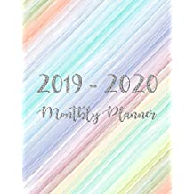 2019-2020 Monthly Planner: Two Year - Monthly Calendar Planner - 24 Months Jan 2019 to Dec 2020 for Academic Agenda Schedule Organizer Logbook and ... - Silver Glitter Happy Colorful Cover