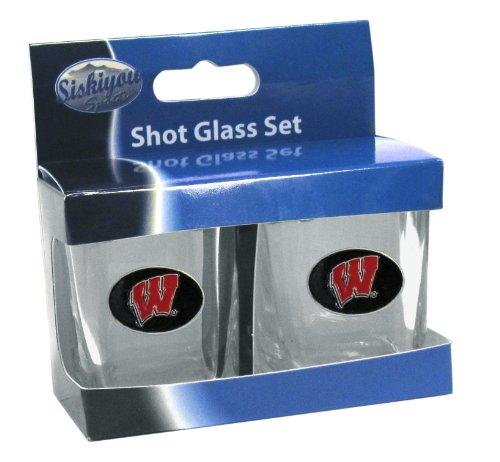 (Siskiyou NCAA Wisconsin Badgers Shot Glass Set)
