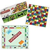 Generic 2 in 1 Monopoly and Snakes and Ladders Board Game