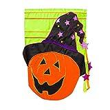 Cheap Jack o lantern Embellished Applique Garden Flag