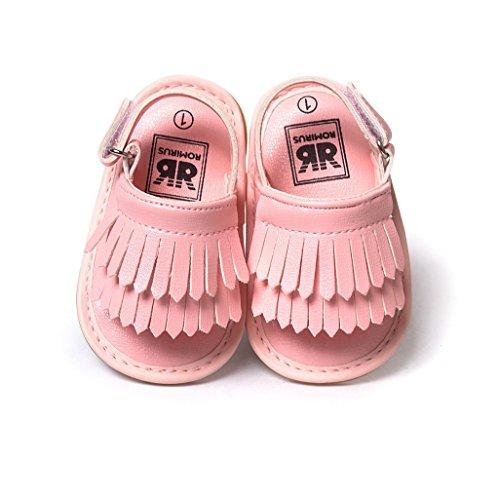 La Niño Auxma Firstwalker Del Soled Cuero Los Princesa Verano De Borla Rosado Zapatos Bebés soled Bebé Sandalias Prewalker E6w48YxY