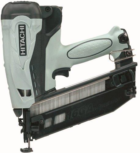 Hitachi NT65GB Cordless Gas Finish Nailer for angled nails