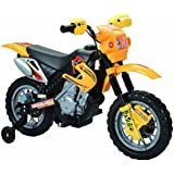 Happy Rider/Fun Wheels 6-volt Battery Operated Ride On Dirt Bike, Yellow