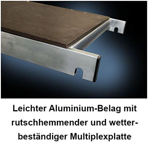 Made in Germany inkl Alu Ger/üst Aluminium Rollger/üst Fahrger/üst Bauger/üst Zimmerger/üst Arbeitsplattform Arbeitsb/ühne Arbeitsh/öhe 10 m neu 150 mm Rollen h/öhenverstellbar ALTEC Rollfix 1000-S