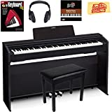 Casio Privia PX-870 Digital Piano - Black Bundle with Furniture Bench, Headphones, Instructional Book, Instructional DVD, and Polishing Cloth