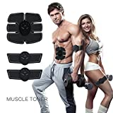 Muscle Toner & ABS Stimulator -Electric Abdominal Toning Belt Exercise Machine Body Muscle Trainer Wireless Portable Unisex Home Fitness Workout Ultimate Fat Burner Equipment for Abdomen Arm Waist.