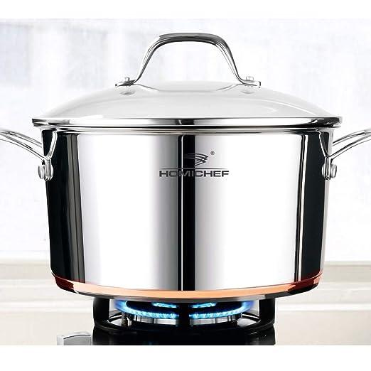 Homi Chef - Juego de ollas de acero inoxidable con tapa de ...