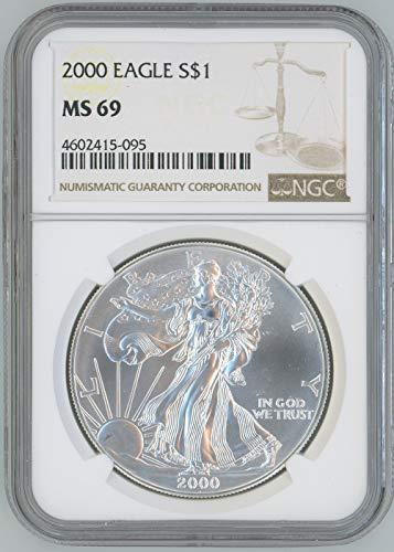 2000 American Silver eagle $1 MS69 - 2000 Silver Dollar