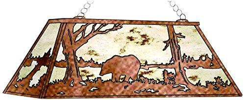 - Meyda Tiffany 51513 Bear At Lake Oblong Pendant Fixture, 72
