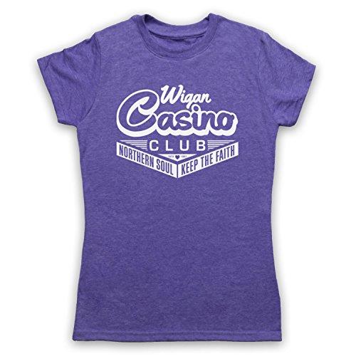 Wigan Casino Northern Soul Camiseta para Mujer Morado Clásico