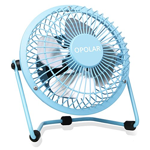 USB Fan Portable Mini Fan (Blue) - 5