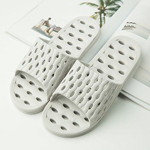 YMFIE Las señoras vaciamiento Antideslizante Ducha Cool Zapatillas de Espuma Blanda Piscina Suelas de Zapatos y Zapatos de baño gray