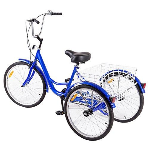 Goplus Adult Tricycle 3-Wheel Bicycle Bike Single Speed ...