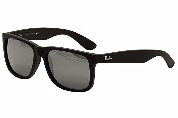 ray ban justin polarized  Amazon.com: Ray-Ban Justin Sunglasses (RB4165) Black/Grey Plastic ...