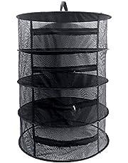 Koisy Ört torkställ nät 4 lager ört tork tråd nät torkställ med dragkedja