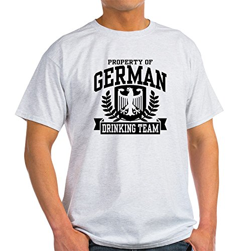 CafePress - German Drinking Team Light T-Shirt - 100% Cotton T-Shirt (T-shirt Drinking Light Team)