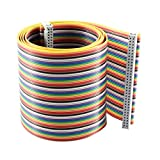 sourcingmap® 2.54mm Pitch 64 Pin 64 Way F/F IDC Flat Rainbow Ribbon Cable 118cm