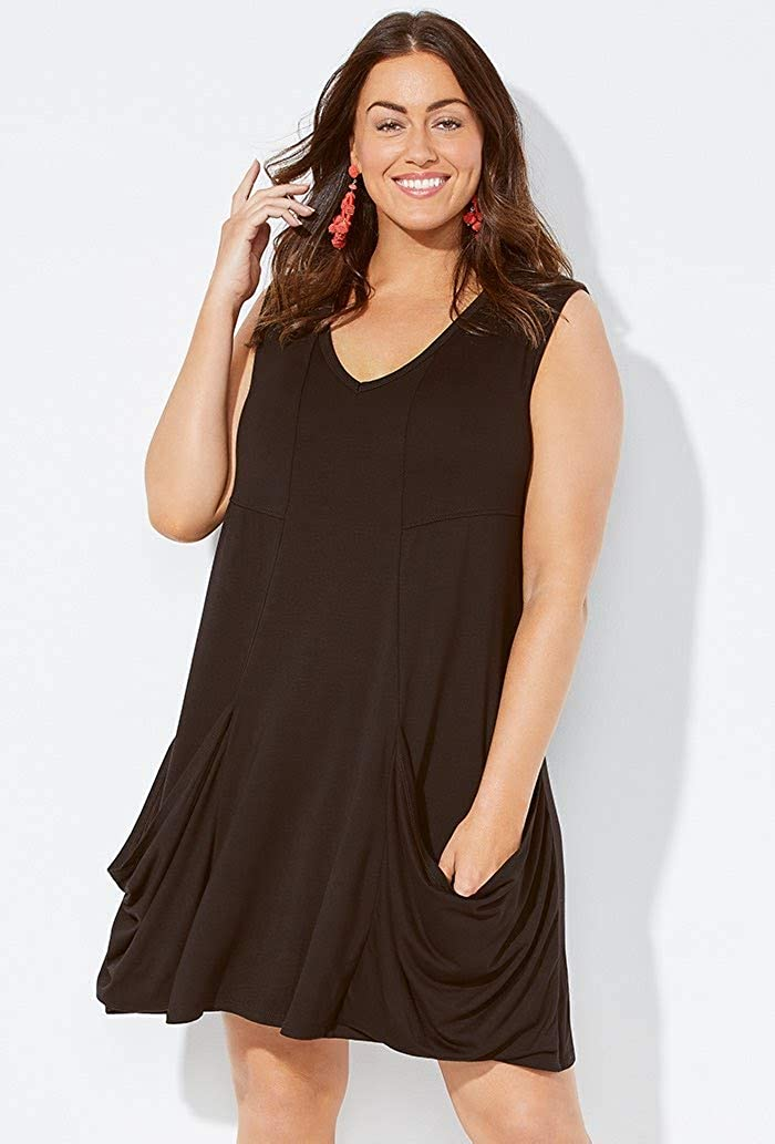 Swimsuits for All Womens Plus Size Swimsuit Cover Up Dress with Pockets