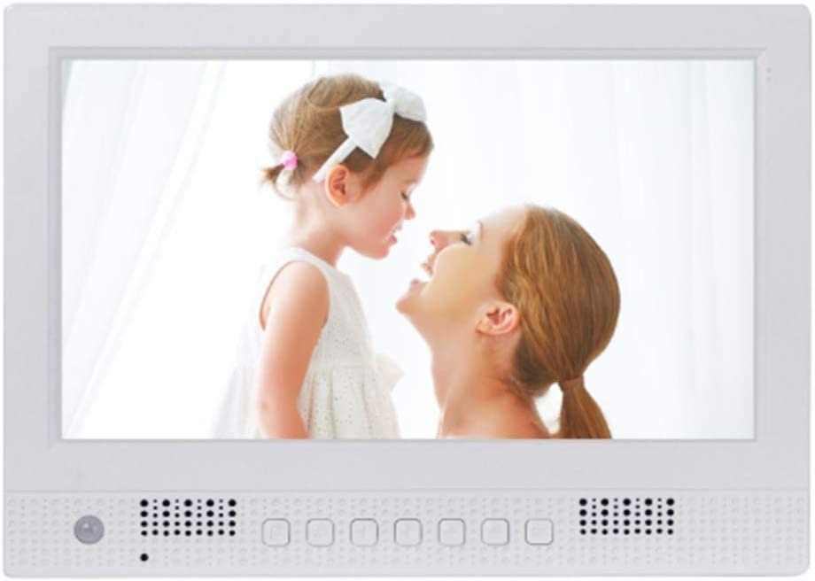 10-Inch Ultra-Thin Digital Photo Frame Front Speaker Supports Video Music Playback with Human Body Sensing Function,White
