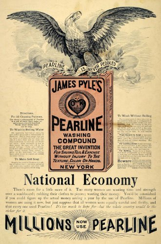 1895-ad-james-pyles-pearline-wash-compound-eagle-laundry-washing-clean-household-original-print-ad