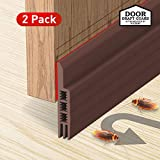 Holikme Door Draft Stopper 2 Pack Brown 39-inch