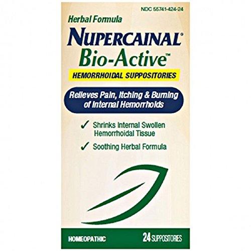 Gelée de Nupercainal Hemorrhoidol bioactifs suppositoire-lanoline/vaseline, jaune pâle-24 ct