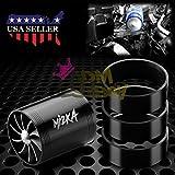 "Mi2KA Turbine Air Intake Fuel Gas Saver Dual Fan Double Turbonator Acceleration System Turbo 2.5""-3.0"" Black"