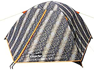 NARMAY Snakeskin Camping Backpaking Two Person Dome Tent - 7.2—5—3.6 Ft