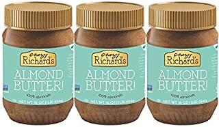 product image for Crazy Richard's All Natural Almond Butter 16 oz Jar (Almond Butter, 3 Jars)