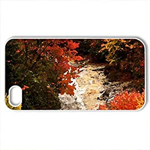 AUTUMN MAJESTY - Case Cover for iPhone 4 and 4s (Rivers Series, Watercolor style, White)