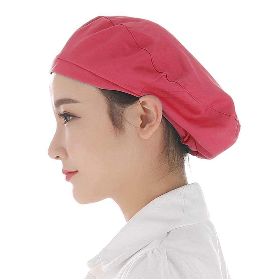 Jiyaru Chef Cap Skin-Friendly Cook Hat Reusable Restaurant Workshop Hats