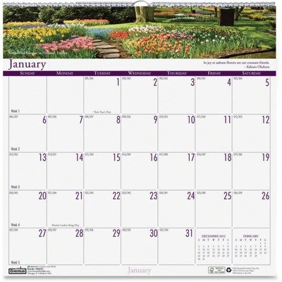 (House of Doolittle Gardens of the World Monthly Wall Calendar, 2010 Edition, 12 x 12 Inches, White (301) by House of Doolittle)