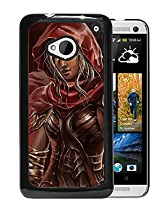New Custom Designed Cover Case For HTC ONE M7 With Warrior Queen Fantasy Mobile Wallpaper Phone Case