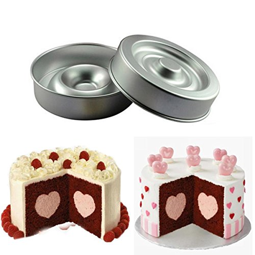 Shop24Hrs Heart Shape Layer Cake Pan Mold Aluminum Cake Pans 8 Inch (Sandcastle Cake Pan compare prices)