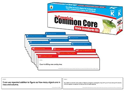 Carson Dellosa The Complete Common Core State Standards Kit Pocket Chart Cards 158168 Grade K