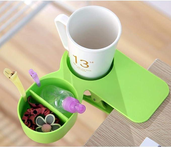 3 X Inizio ufficio bevande della tazza di caff/è della clip del supporto morsetto da tavolo a colori a caso