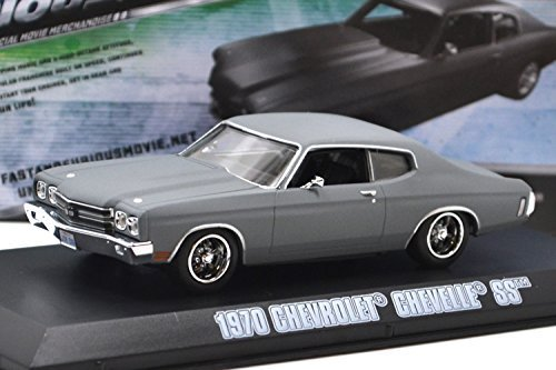 (Greenlight 1: 43SCALE FAST FURIOUS DOM'S 1970 CHEVROLET CHEVELLE SS (GRAY) Green Light 1:43 scale Fast and the Furious MAX, Dominique 1970 Chevrolet Chevelle SS (gray) [parallel import)