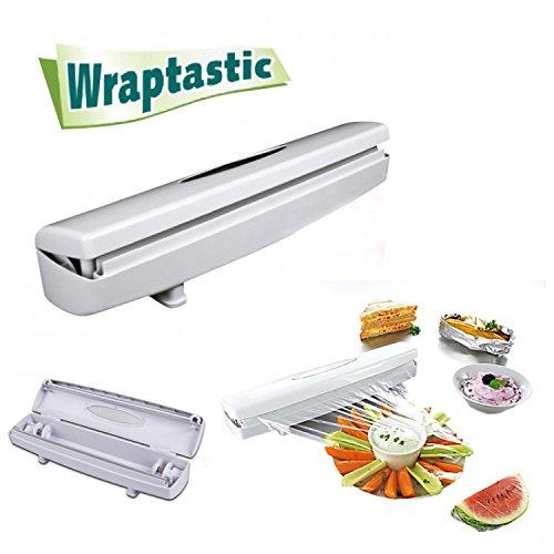 AsSeenOnTV.com Wraptastic Food Wrap Dispenser, White, 14x3x5