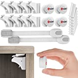 Best Baby Safety Magnetic Cabinet Locks - 8 Locks + 4 Keys + 2 Straps Bonus For Childproof cabinet - Invisible Locking Security System With 3M Adhesive Tape - No Tools Or Screws Needed - By Gkasa
