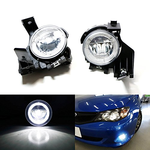 iJDMTOY 20W High Power CREE XB-D LED Halo Ring Daytime Running Lights/LED Fog Lights For 2008-2011 Subaru Impreza WRX Sedan or Wagon (Not For STI) (Subaru Impreza Wagon Sti)