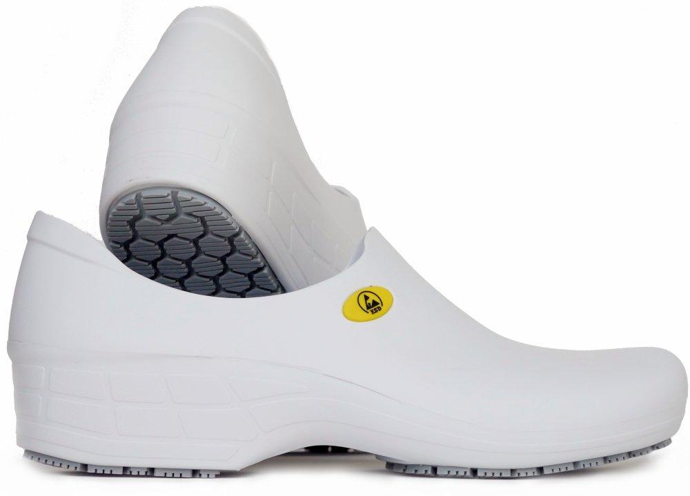 CANADA EPI ESD Anti-Static Non-Slip Professional Shoes for Women (7, White)