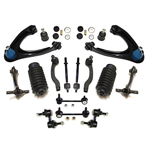 PartsW 18 Pc Complete Suspension Kit for Honda CR-V 1997-2001 Inner & Outer Tie Rod Ends, Lower Ball Joints, Shock Mount Bushings, Front & Rear Upper Control Arms, Sway Bars -