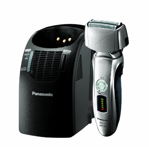 Panasonic ES-LT71-S, Arc3 Electric Razor, Men's 3-Blade Cordless with Wet/Dry Convenience, Automatic Premium Clean & Charge Station Included by Panasonic