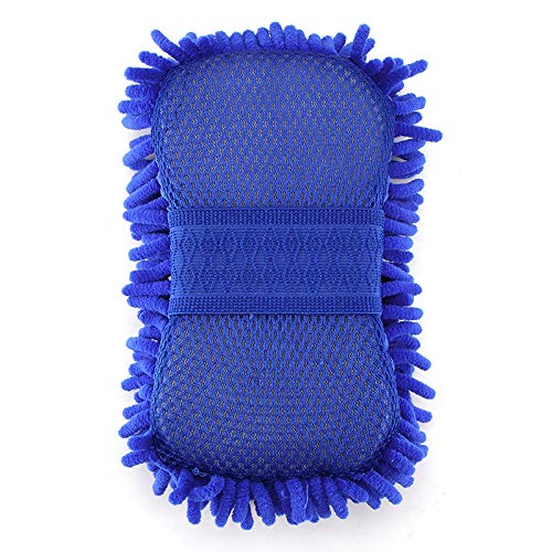 Winbang Esponja de lavado de microfibra Coral Coche Esponja Anti-Ara/ñazos Seco Wet Amphibious Esponja para Coche Cristal Azules de Cer/ámica