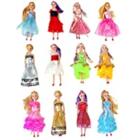 Miniature Doll 12-pack Play-set Bundle with Princess and...