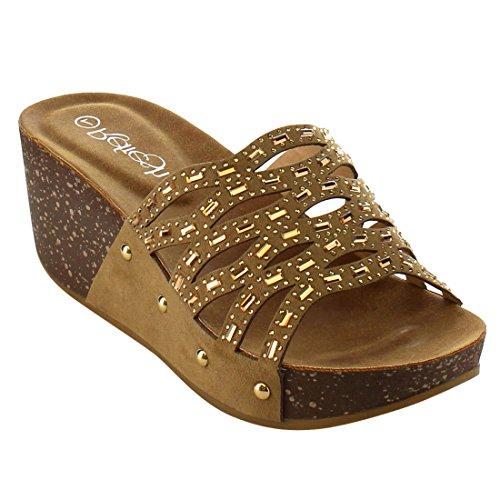 Refresh Womens Cutout Rhinestone Sandal product image